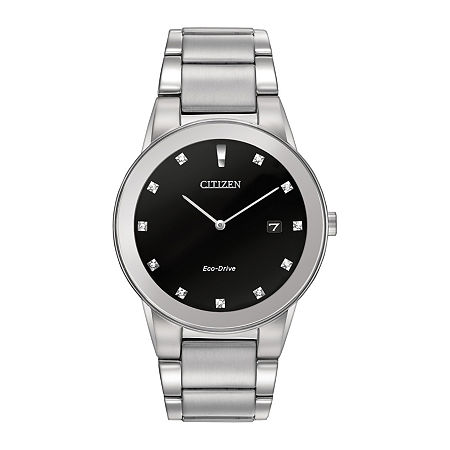 Citizen Axiom Mens Silver Tone Stainless Steel Bracelet Watch-Au1060-51g, One Size , No Color Family