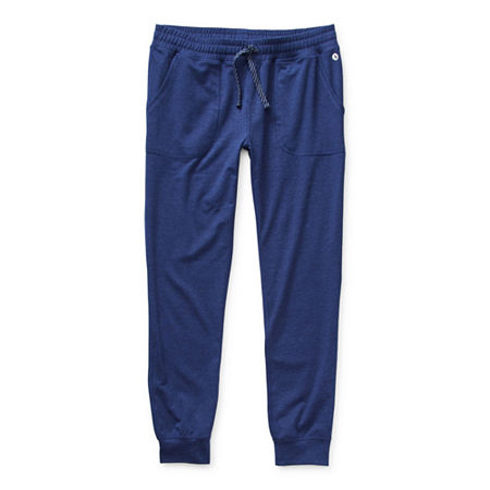 Xersion Little & Big Girls Tapered Jogger Pant, Small (7-8) , Blue