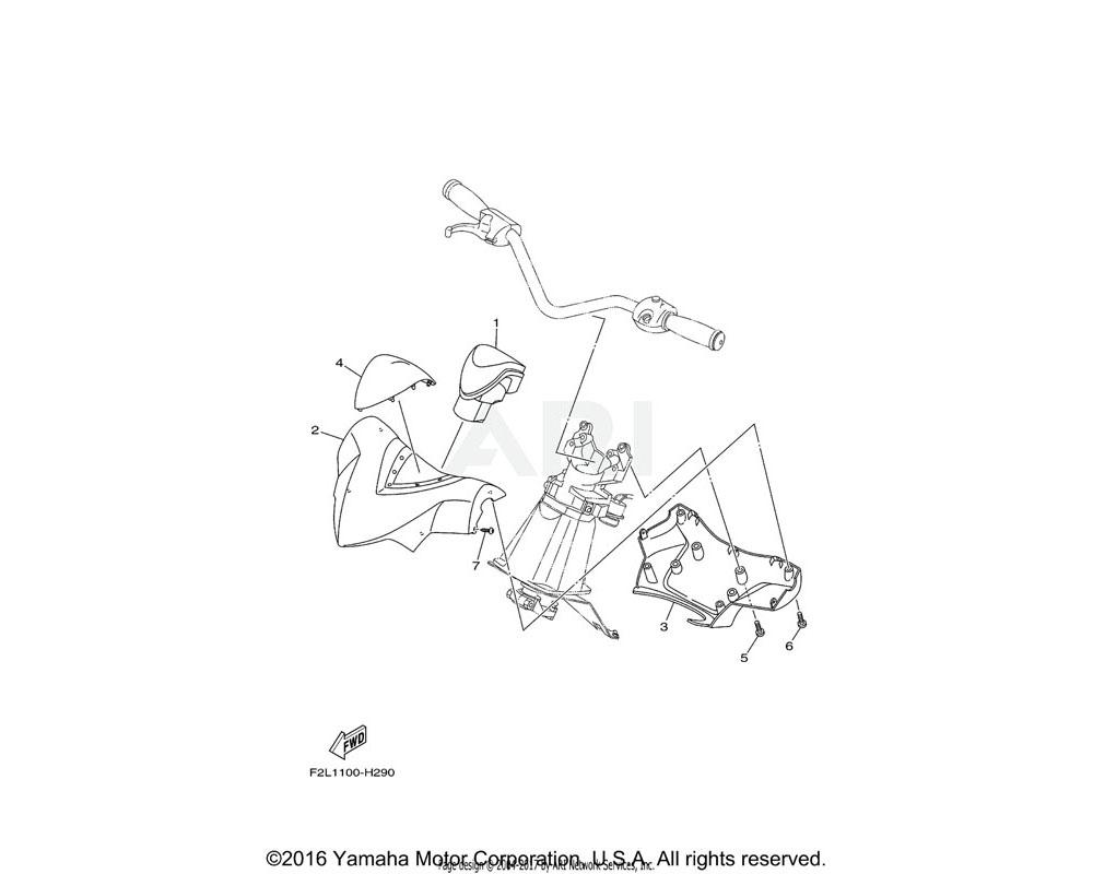 Yamaha OEM F1K-U143D-10-00 PAD, STEERING 1