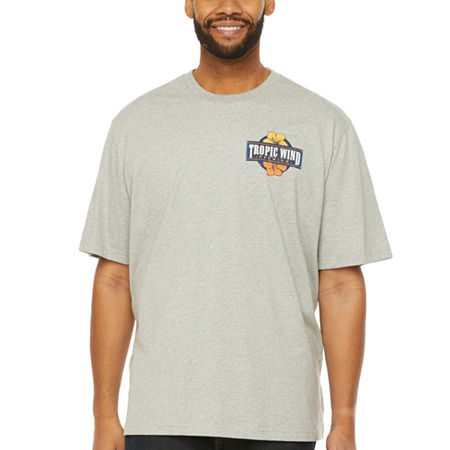 IZOD-Big and Tall Mens Crew Neck Short Sleeve Graphic T-Shirt, 4x-large , Gray