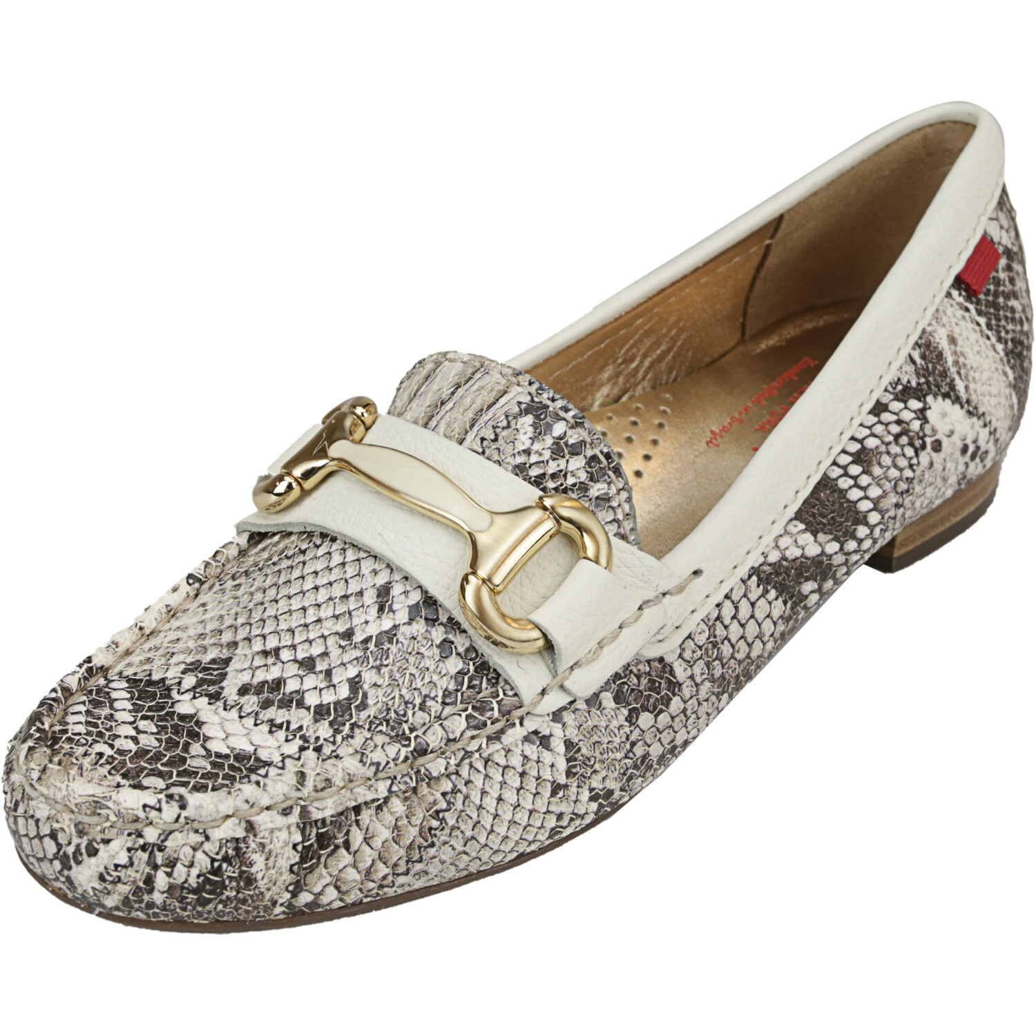 Marc Joseph New York Women's Grand St Patchwork Beige Ankle-High Leather Loafers & Slip-On - 5M