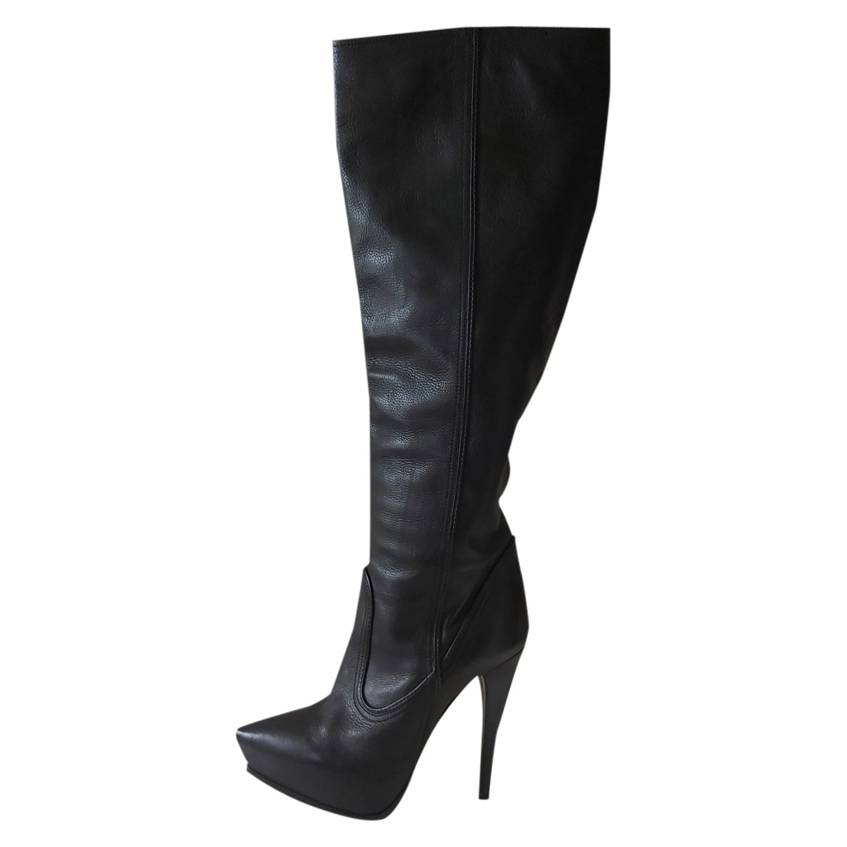 Lanvin \N Black Leather Boots for Women 38 EU