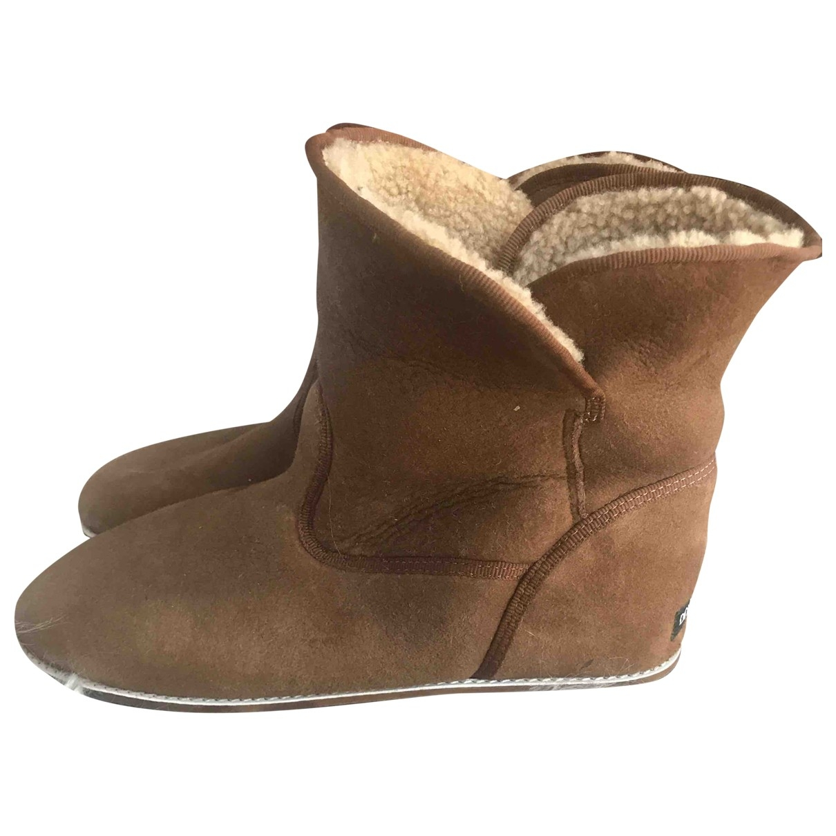 Dolce & Gabbana - Boots   pour femme en suede - camel