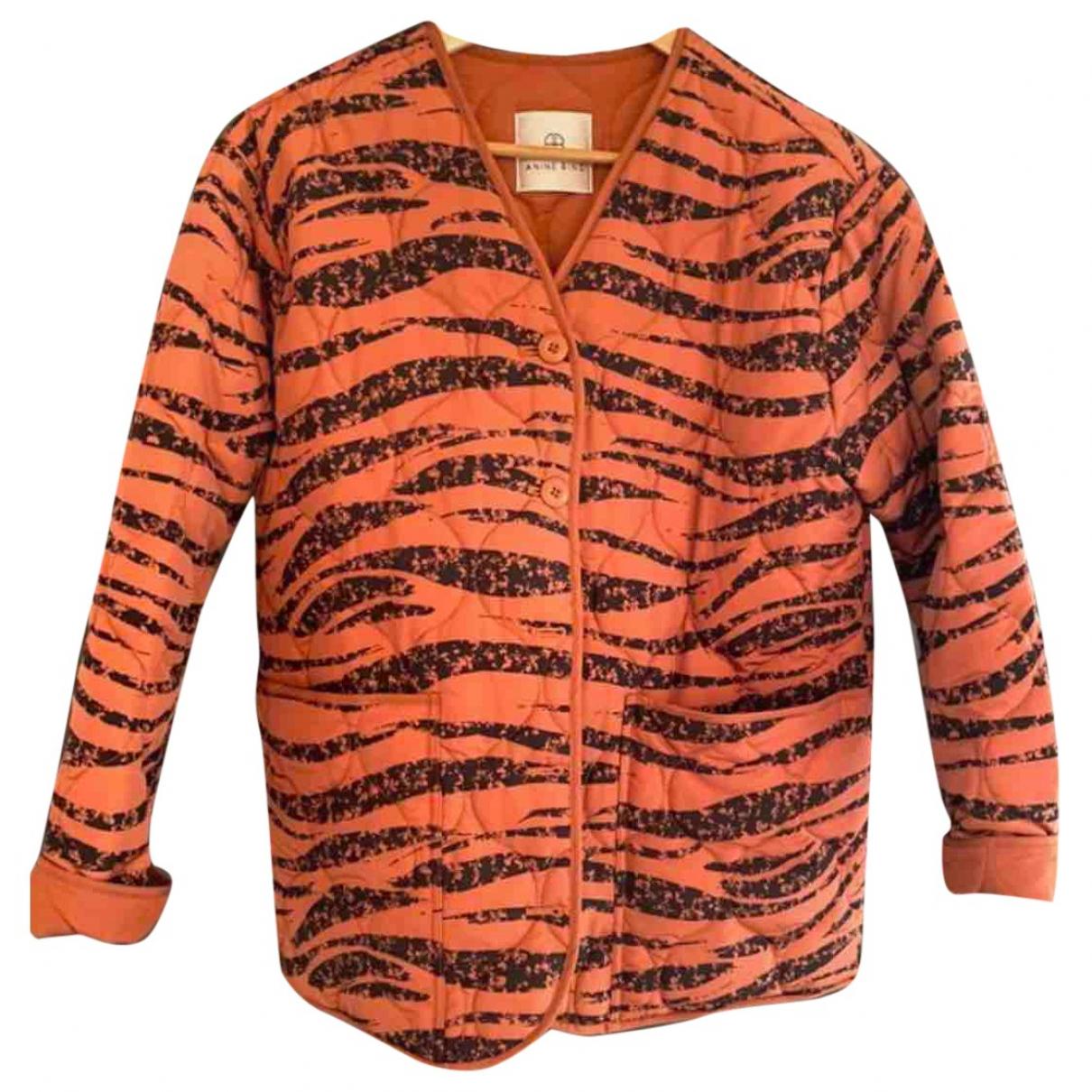 Anine Bing Fall Winter 2019 Jacke in  Orange Polyester