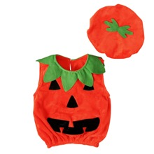 Tank Top & Hut mit Halloween Muster