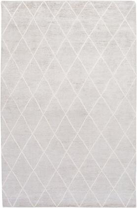 Jaque JAQ-4002 6' x 9' Rectangle Modern Rug in Light Gray