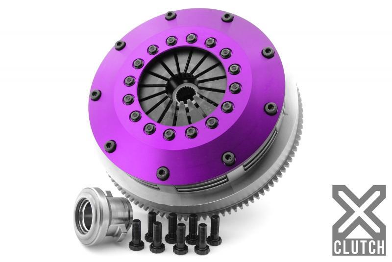 XClutch XKNI20522-2B Clutch Kit with Chromoly Flywheel 8 and Twin Sprung Ceramic Clutch Discs
