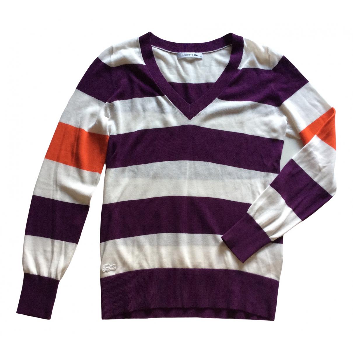 Lacoste \N White Cotton Knitwear for Women 34 FR