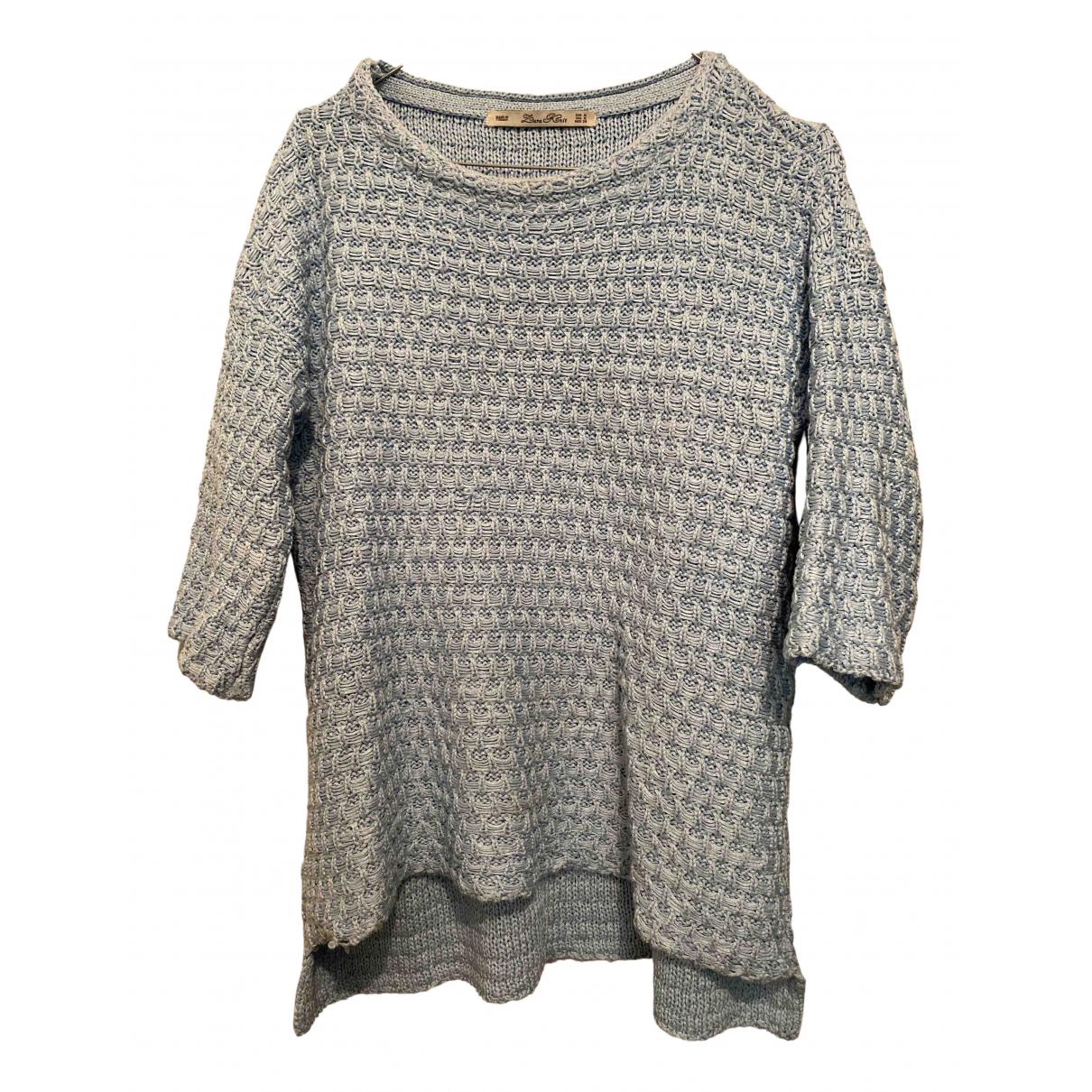 Zara N Turquoise Cotton Knitwear for Women M International