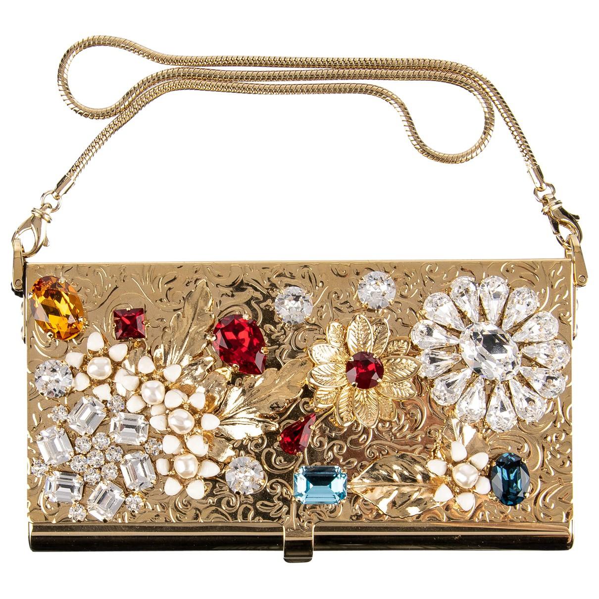 Dolce & Gabbana - Pochette   pour femme en metal - dore