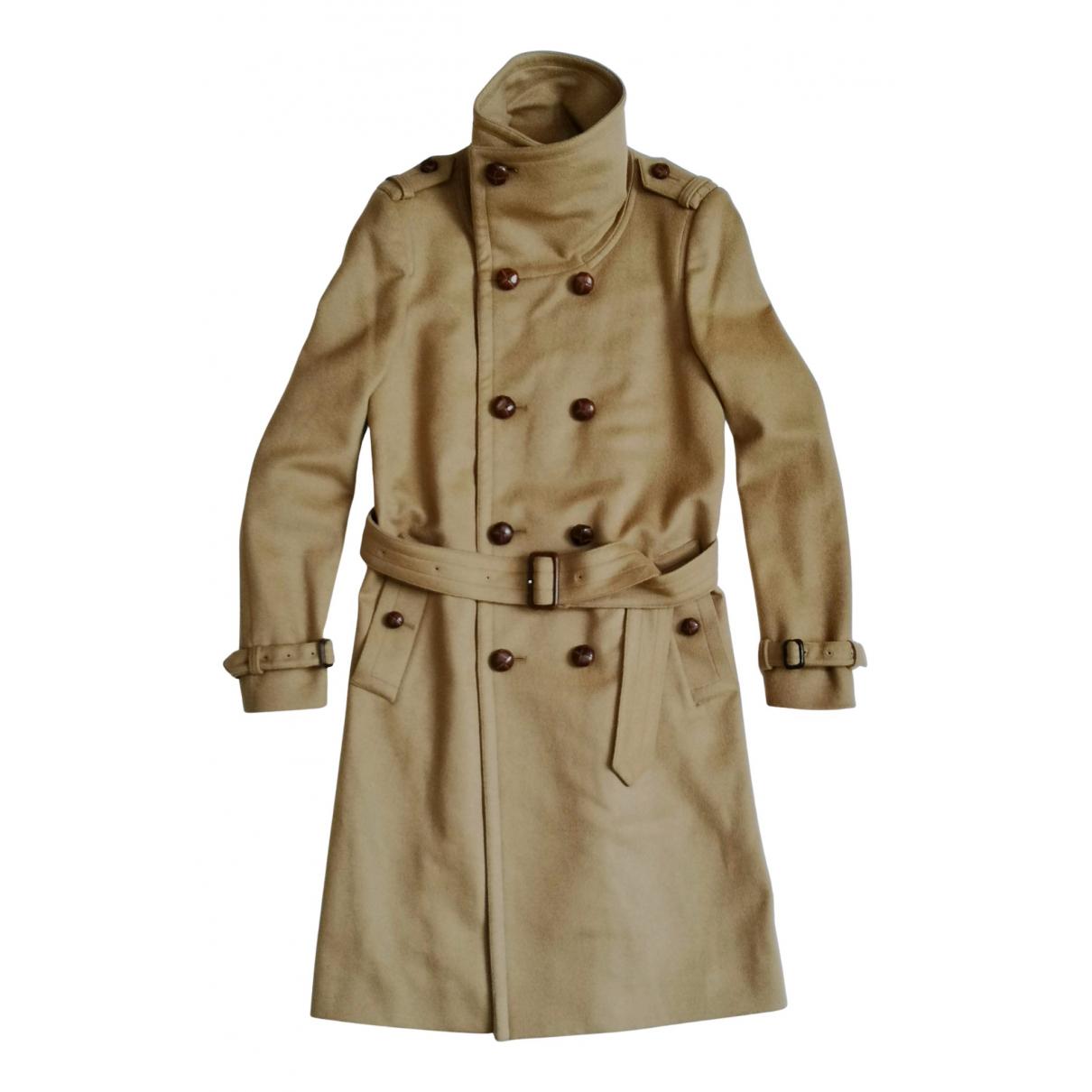 Burberry - Manteau   pour homme en laine - camel