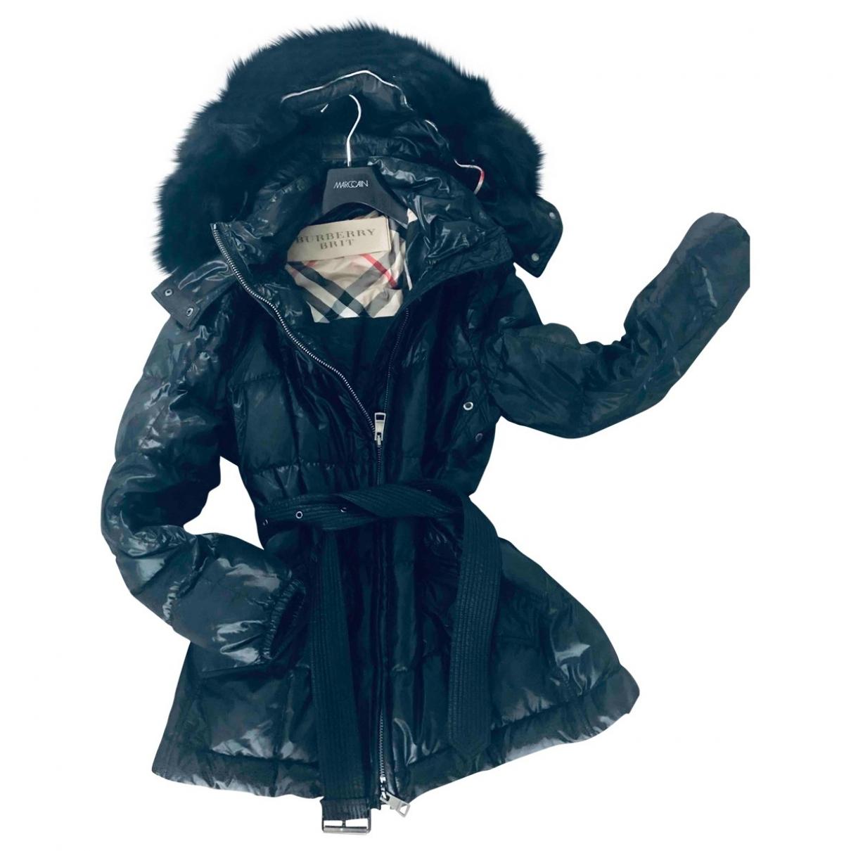 Burberry \N Black Fur coat for Women 42 FR