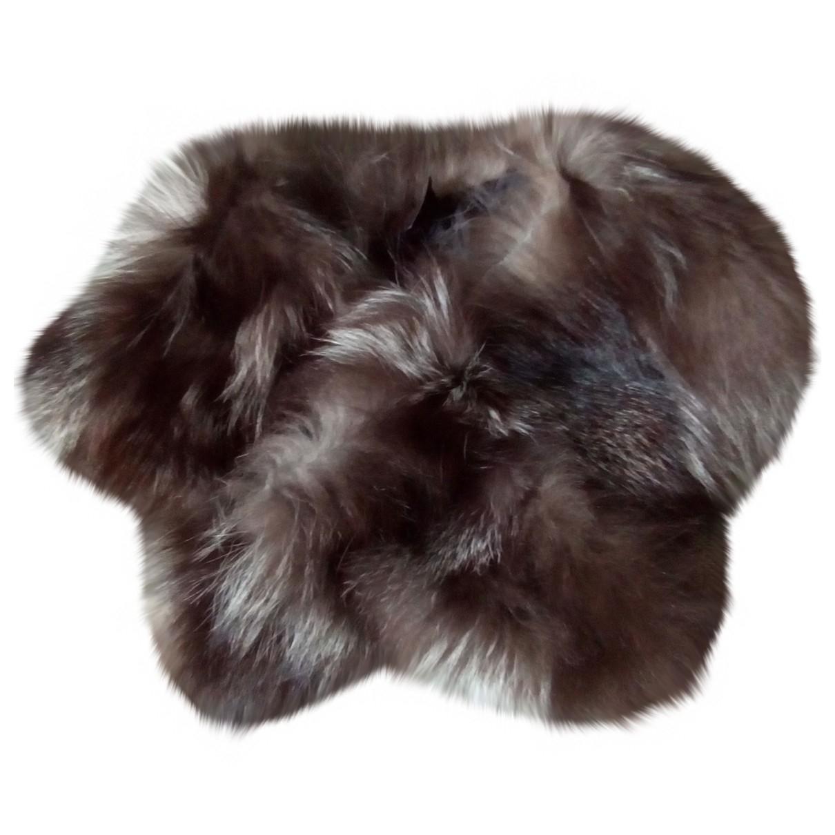 - Foulard   pour femme en racoon - marron