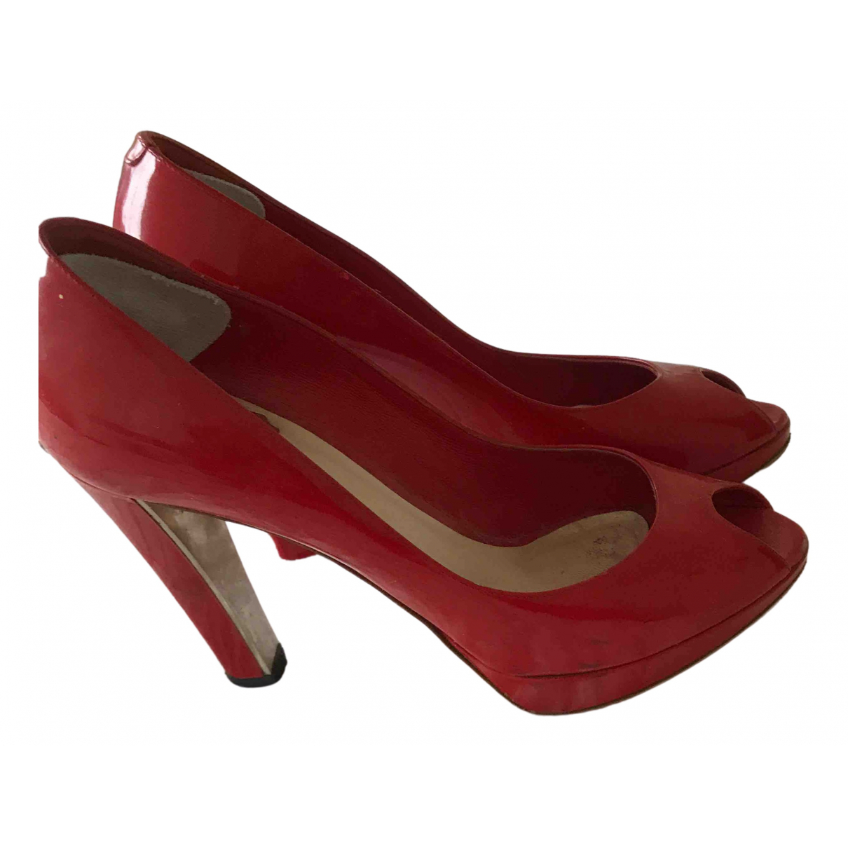 Dior \N Red Patent leather Heels for Women 38 EU