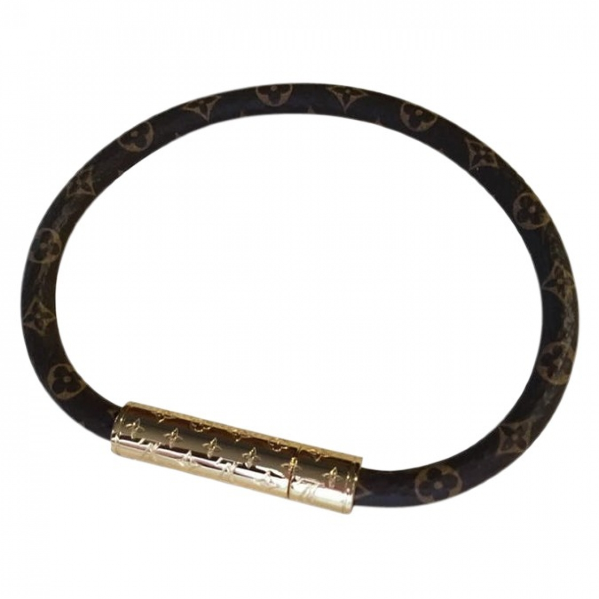 Louis Vuitton LV Confidential Armband in  Bunt Leinen