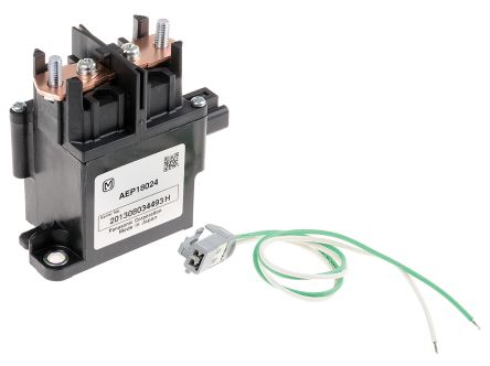 Panasonic , 24V dc Coil Non-Latching Relay SPNO, 80A Switching Current Flange Mount