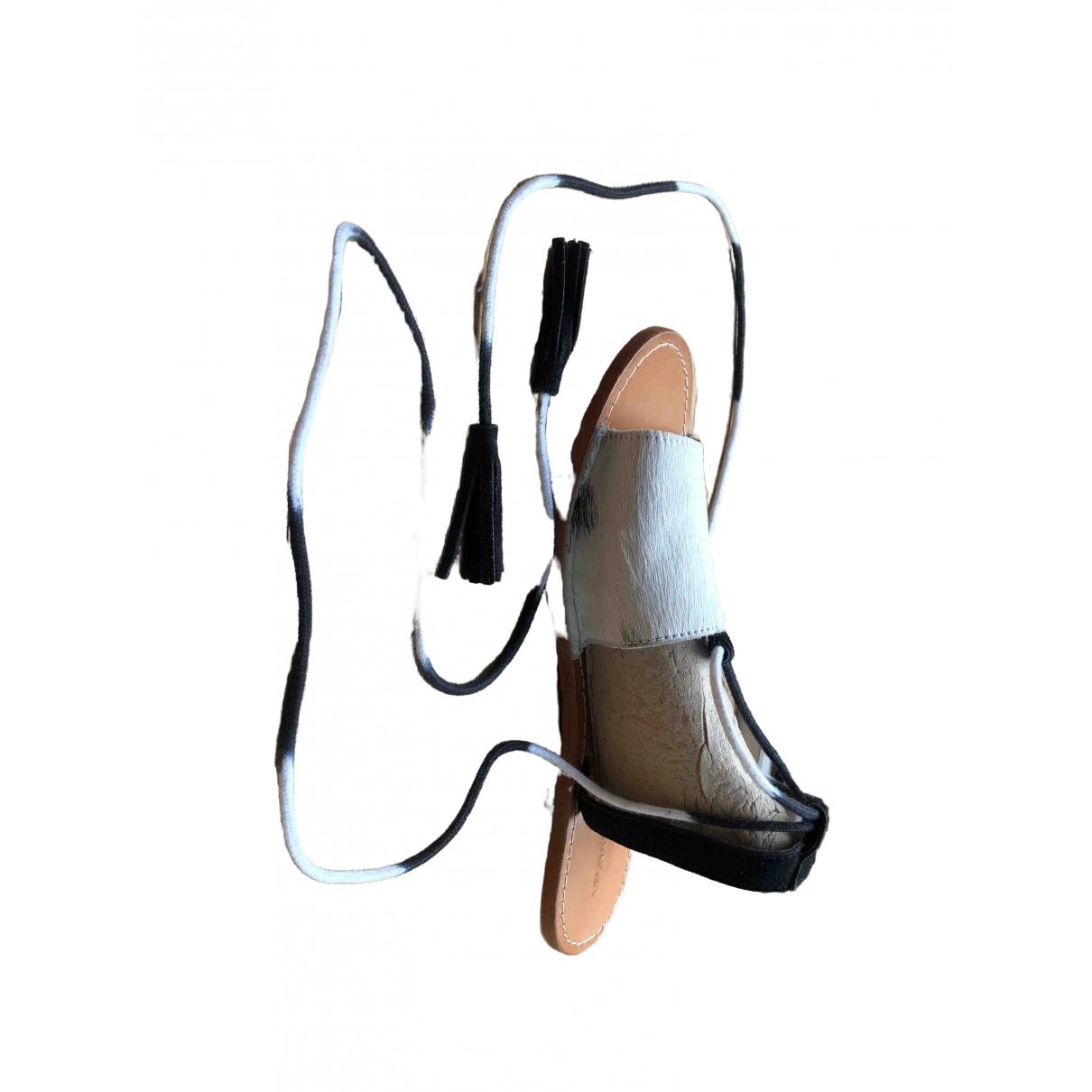 Leon & Harper \N White Pony-style calfskin Ballet flats for Women 38 EU