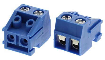 TE Connectivity , Buchanan 5mm Pitch, 2 Way Pluggable Terminal Block, Blue (5)