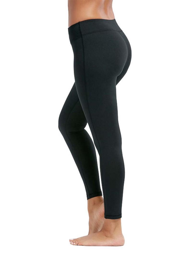 Ericdress Breathable Solid Plain Sports Leggings