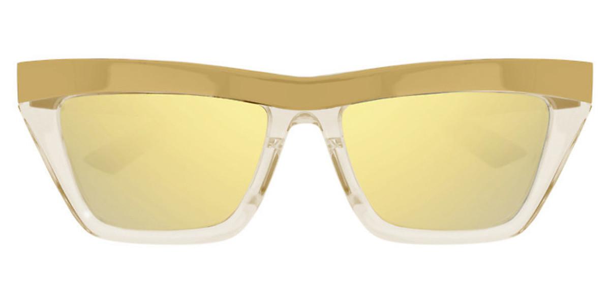 Bottega Veneta BV1056S 003 Men's Sunglasses Gold Size 56
