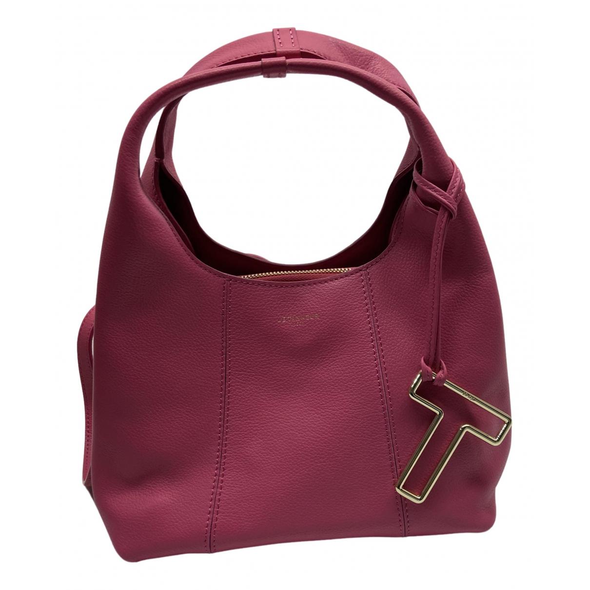 Le Tanneur \N Handtasche in  Rosa Leder