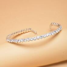Gargantilla con diamante de imitacion