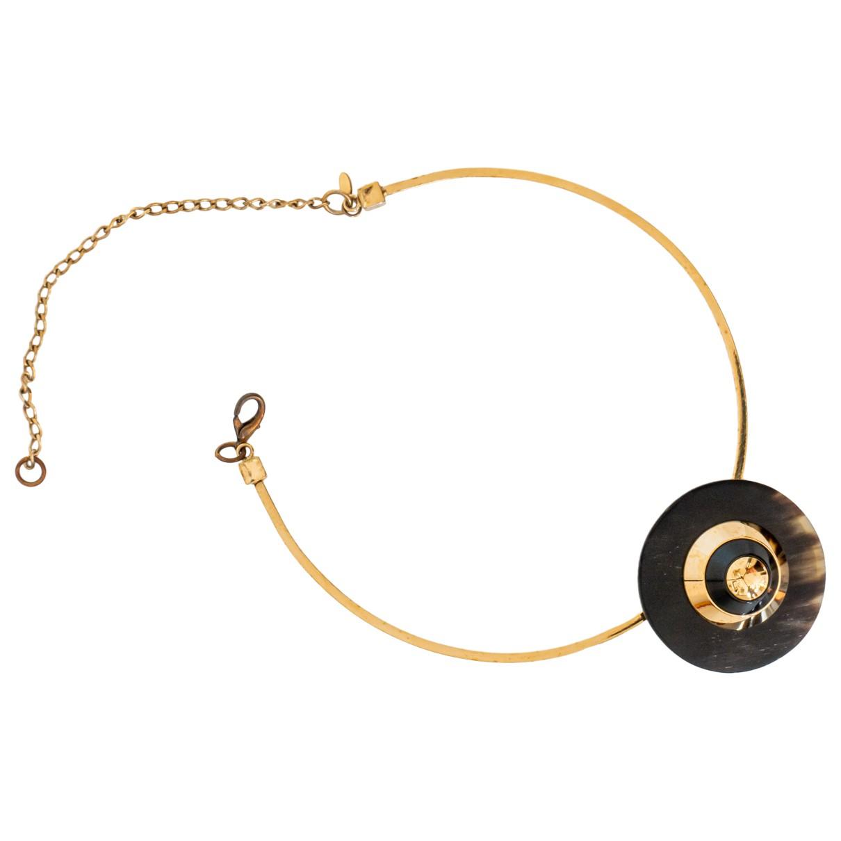 Marni - Collier   pour femme en plaque or - dore