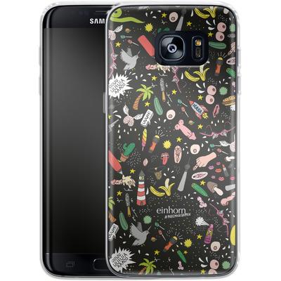 Samsung Galaxy S7 Edge Silikon Handyhuelle - Penisgegenstaende - by einhorn von Einhorn