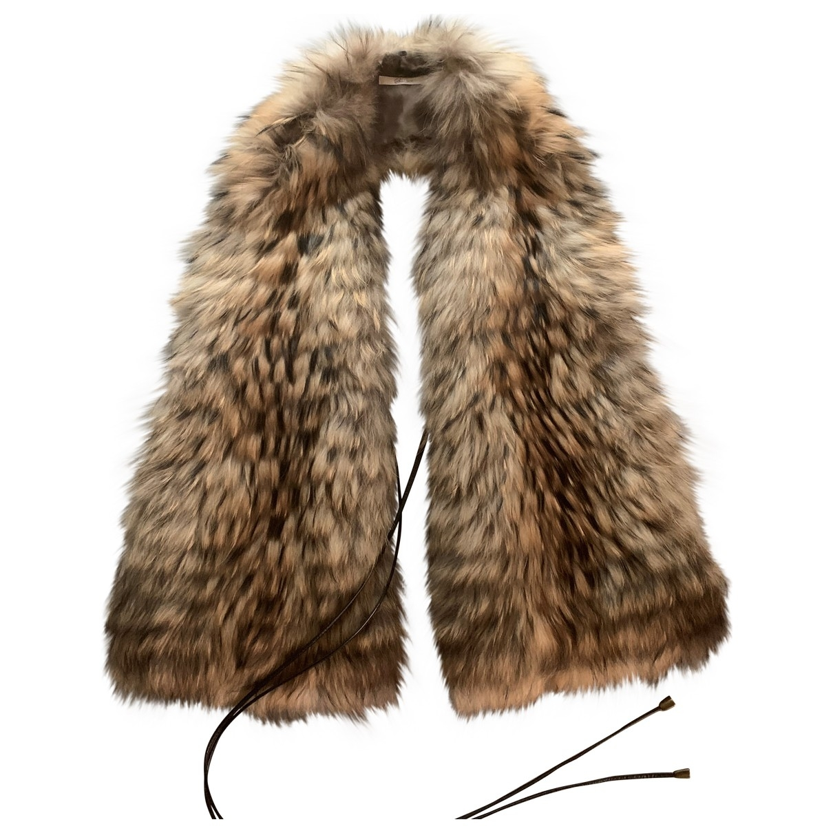 Non Signé / Unsigned \N Brown Fur scarf for Women \N