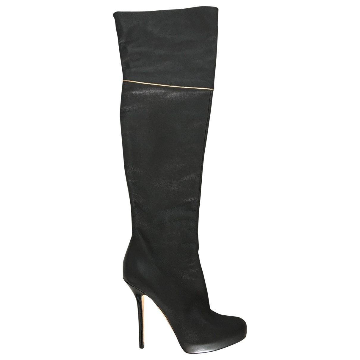 Blumarine \N Black Leather Boots for Women 41 EU