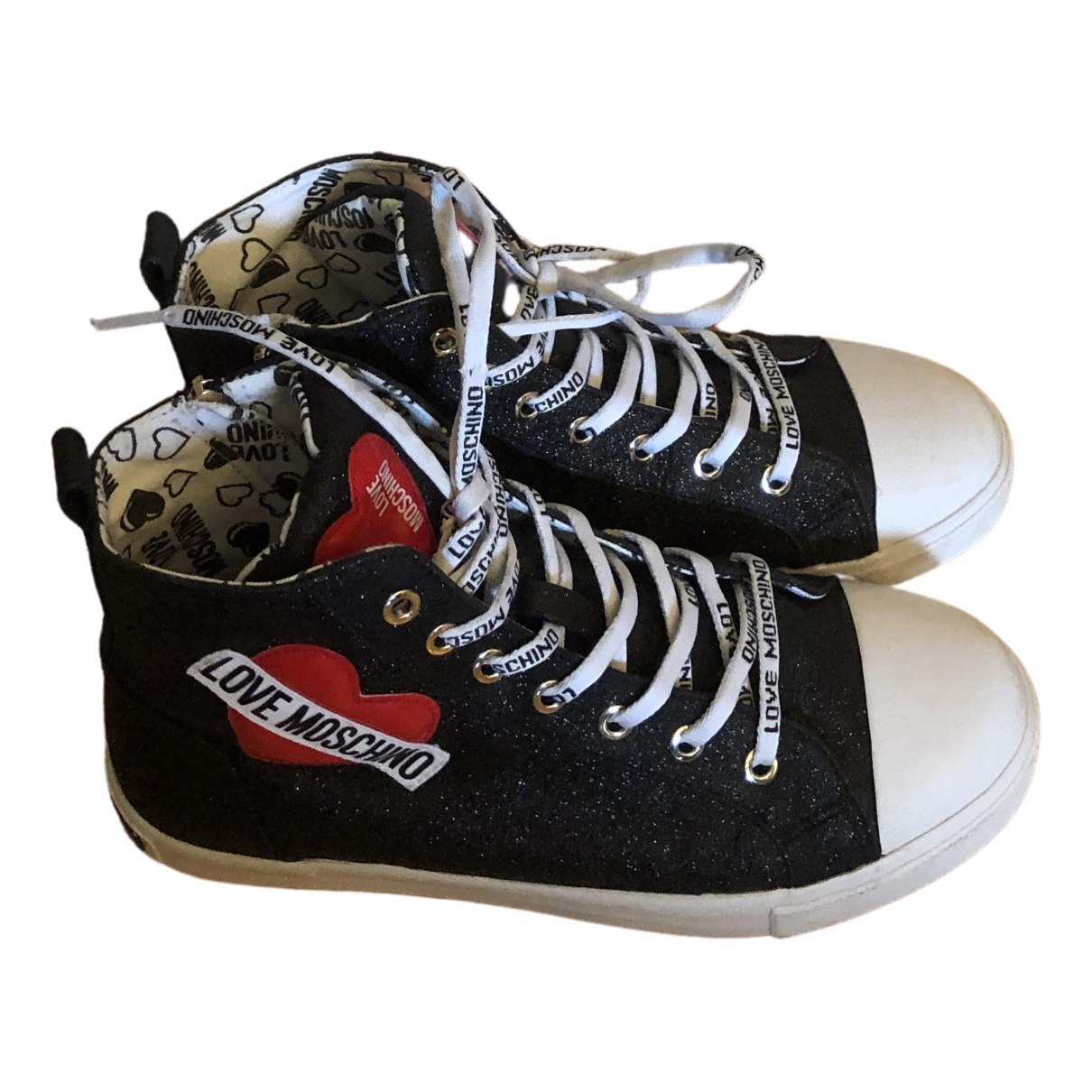Moschino Love \N Sneakers in  Schwarz Leinen
