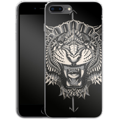Apple iPhone 8 Plus Silikon Handyhuelle - Eye Of The Tiger von BIOWORKZ