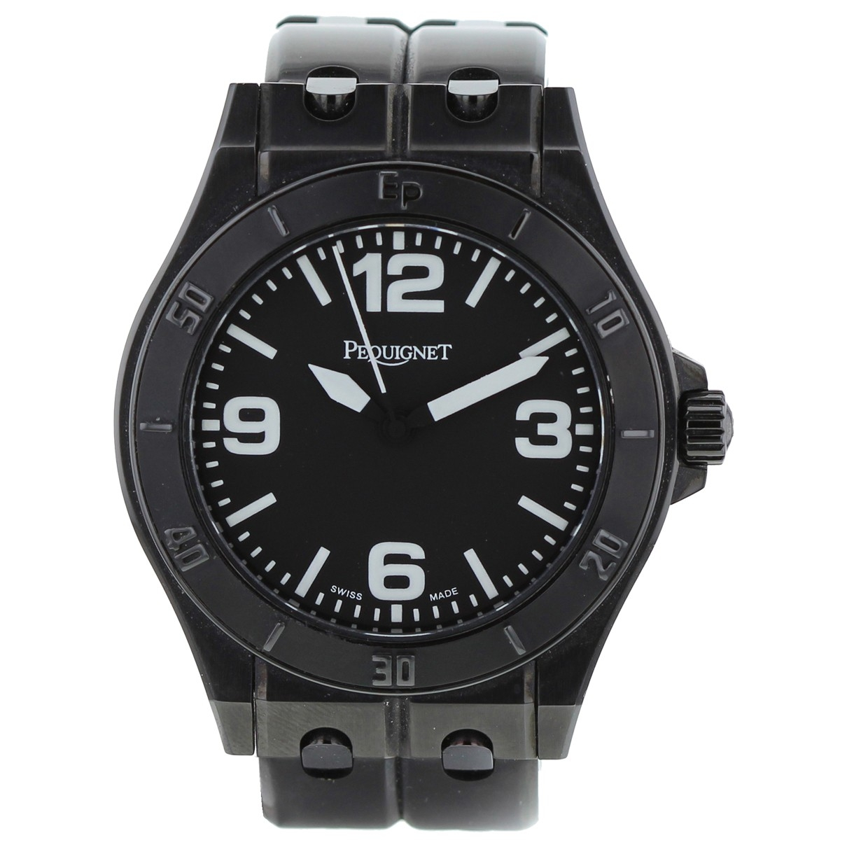 Pequignet \N Khaki Steel watch for Men \N