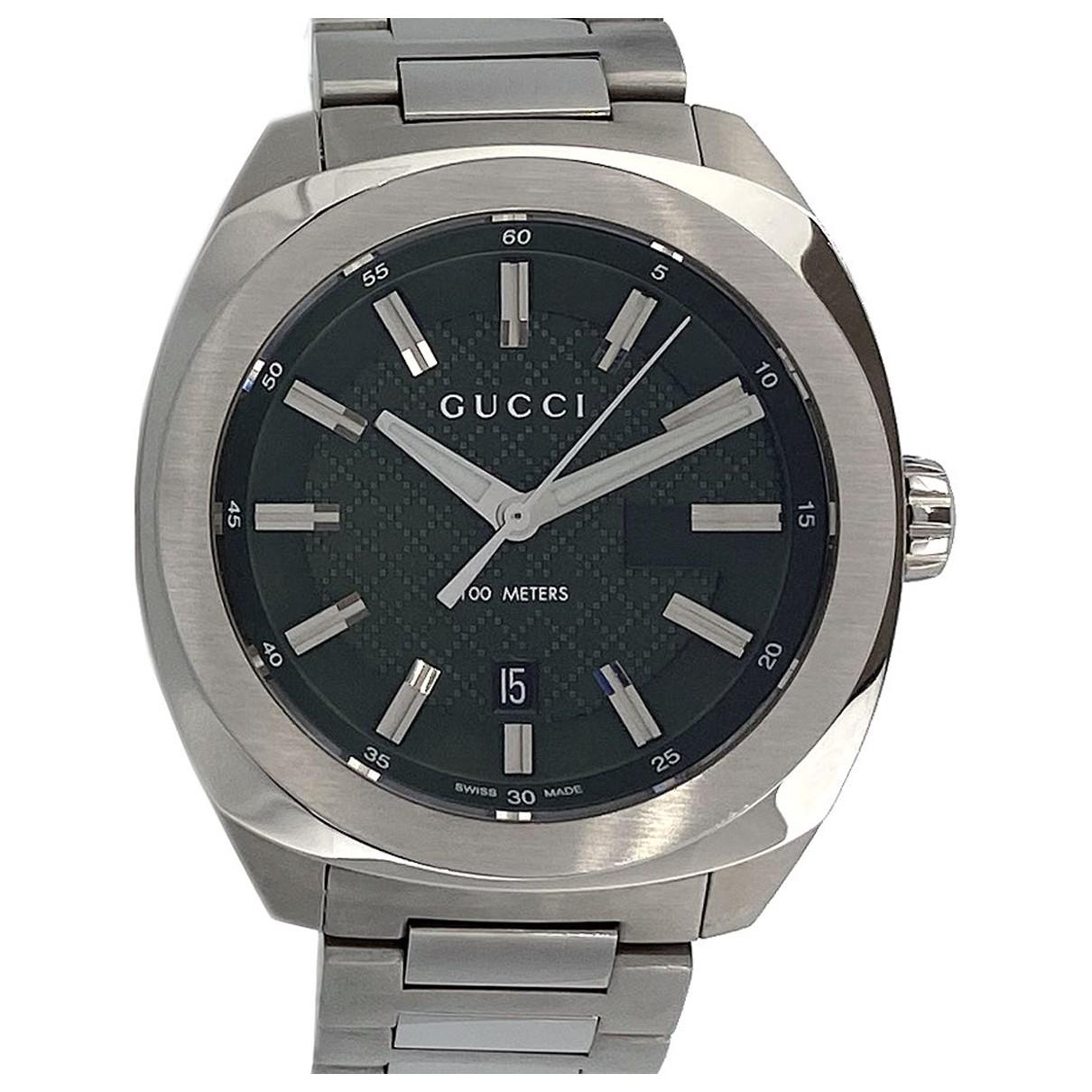 Gucci \N Uhr in  Gruen Stahl