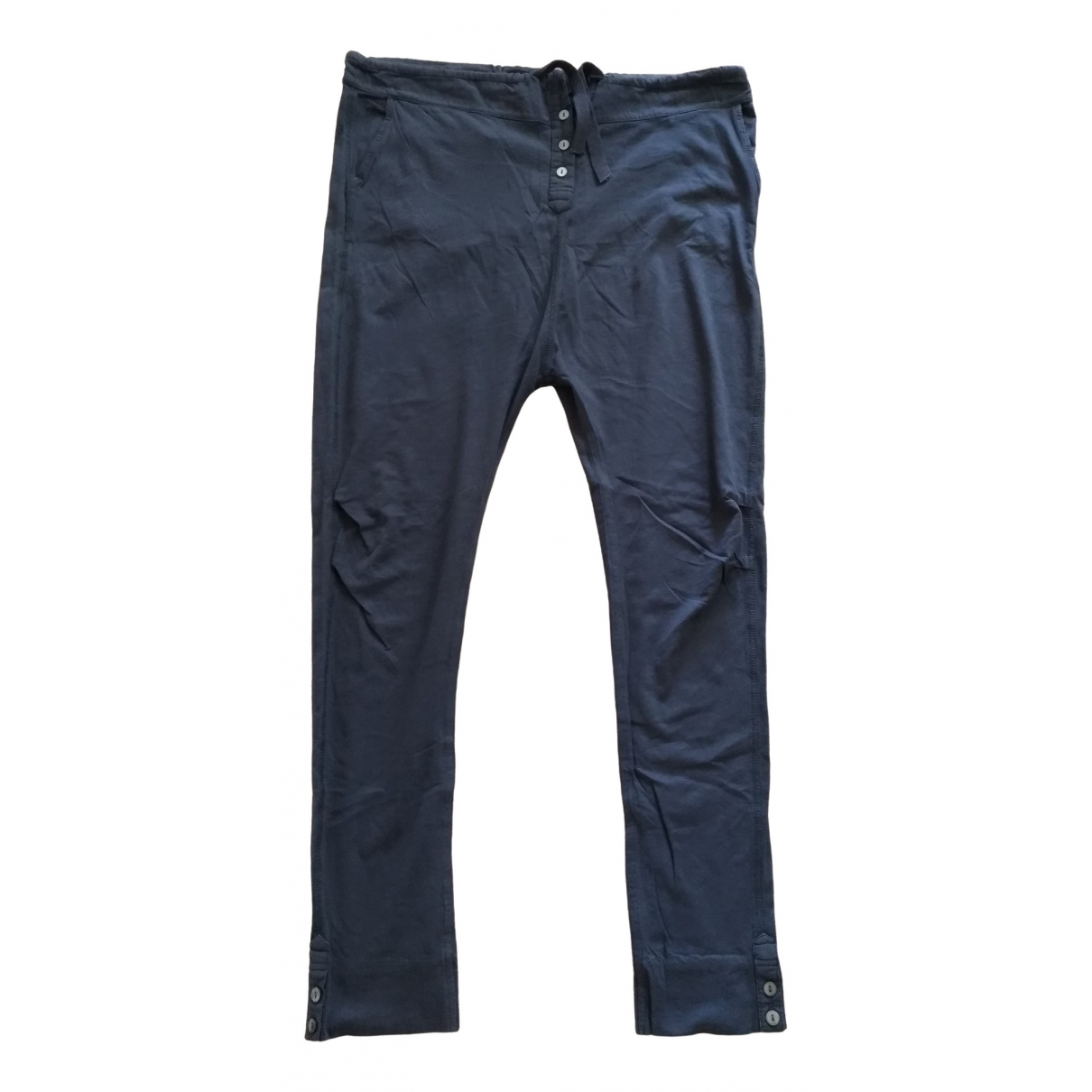 Maison Scotch \N Grey Cotton Trousers for Women S International