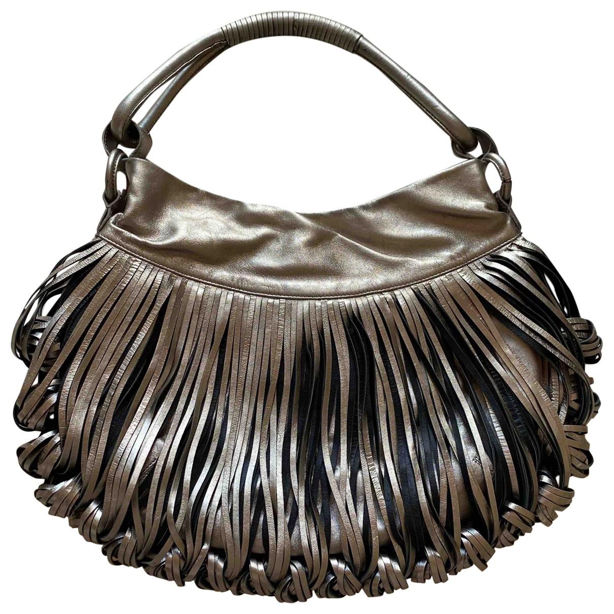 Katherine Kwei \N Handtasche in  Silber Leder