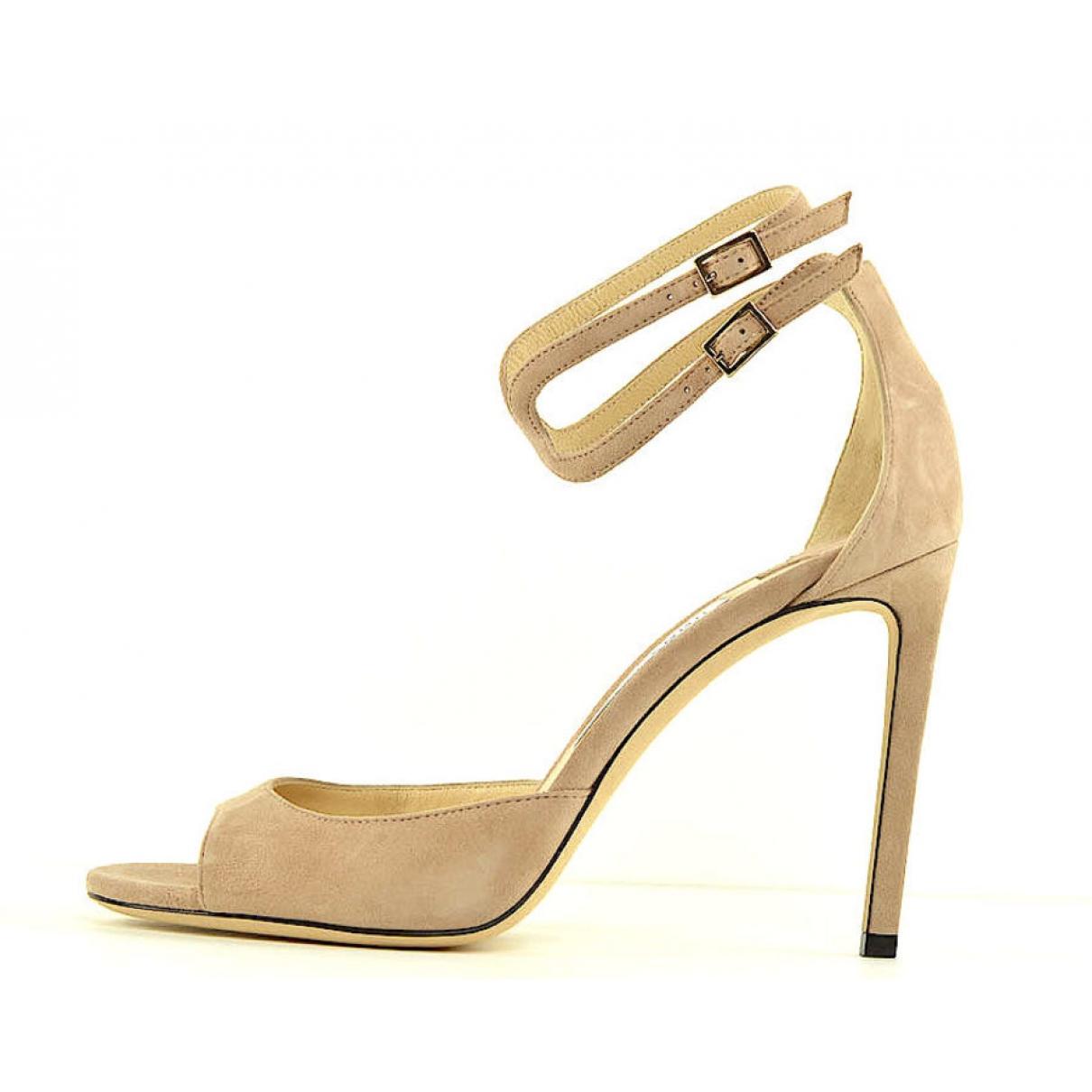Jimmy Choo - Sandales   pour femme en suede - beige