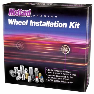 McGard 84558 5 Lug Hex Install Kit w/Locks (Cone Seat Nut) M12X1.5 / 13/16 Hex / 1.5in. Length - Black