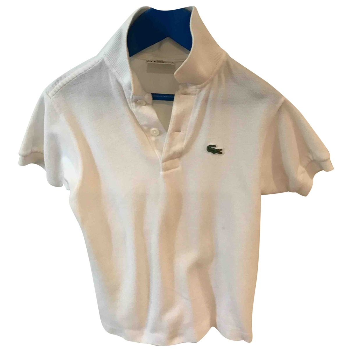 Lacoste - Top   pour enfant en coton - blanc