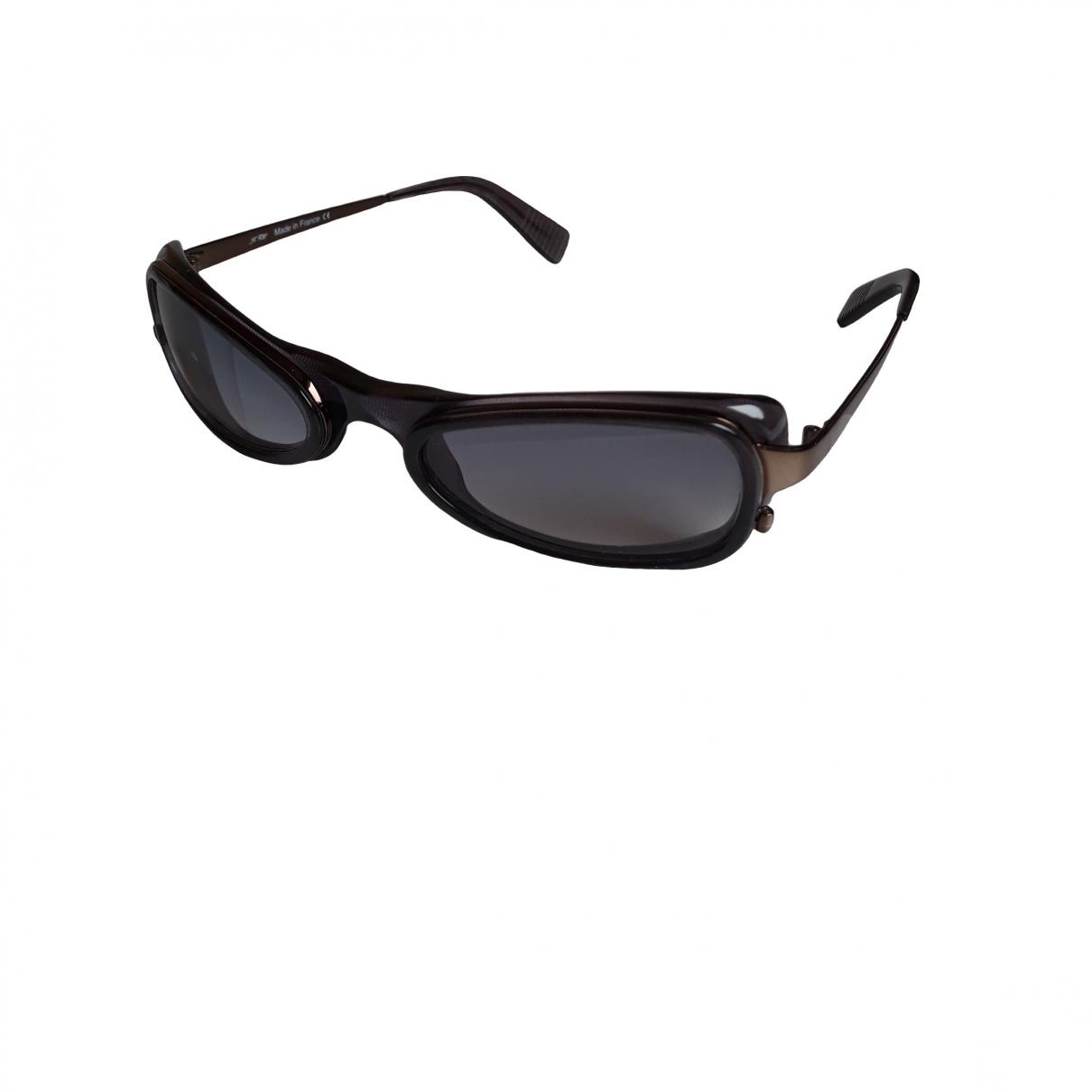 Non Signe / Unsigned \N Sonnenbrillen in  Grau Metall