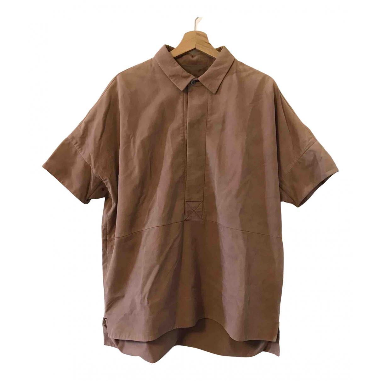 Gucci - Chemises   pour homme en cuir - rose