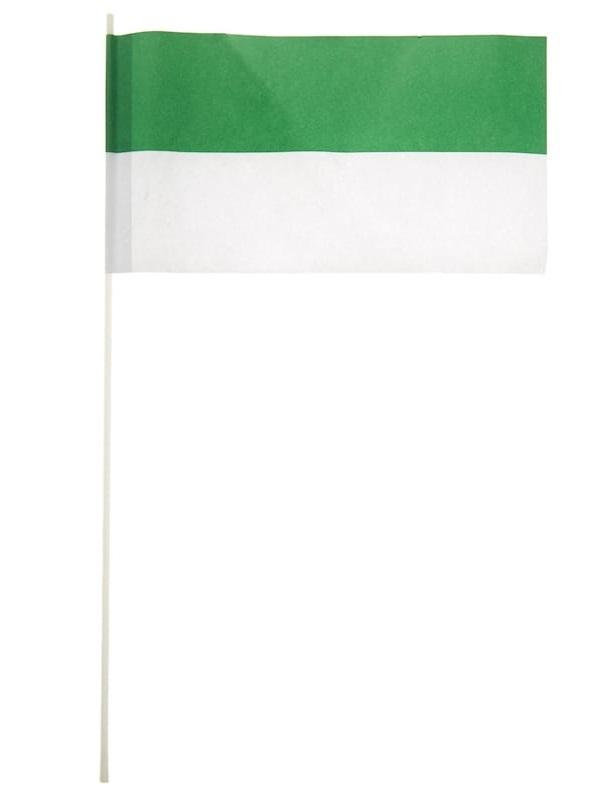 Papierfaehnchen gruen/weiss 24x12cm
