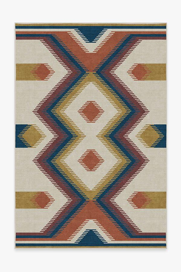 Washable Rug Cover | Anza Polychrome Rug | Stain-Resistant | Ruggable | 6'x9'