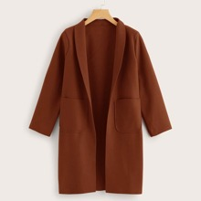 Mantel mit Schalkragen und doppelten Taschen