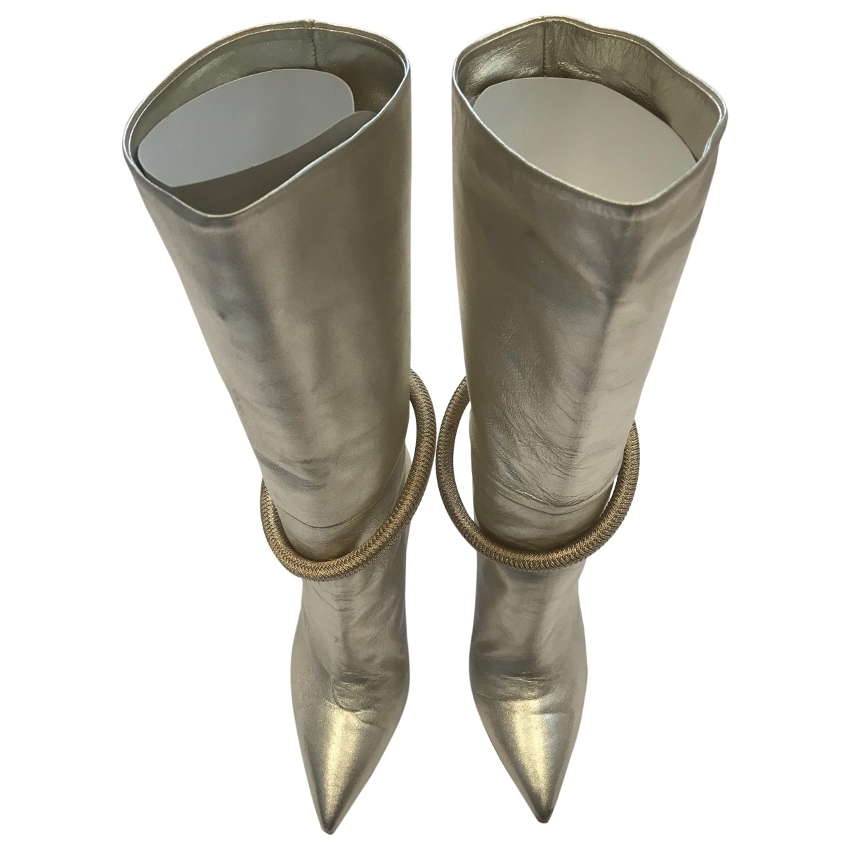 Malone Souliers \N Gold Leather Boots for Women 39 EU