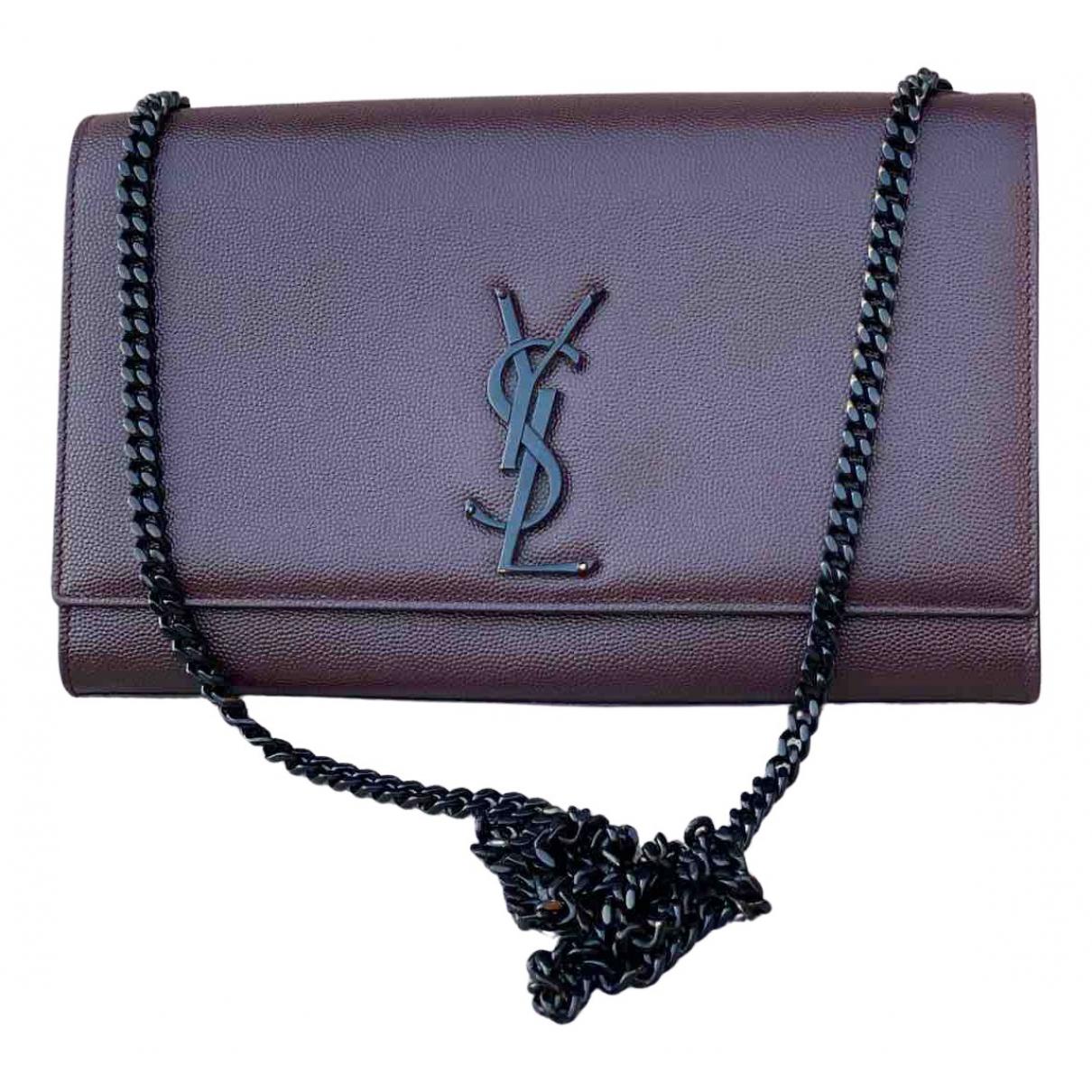 Saint Laurent Kate monogramme Brown Leather handbag for Women N
