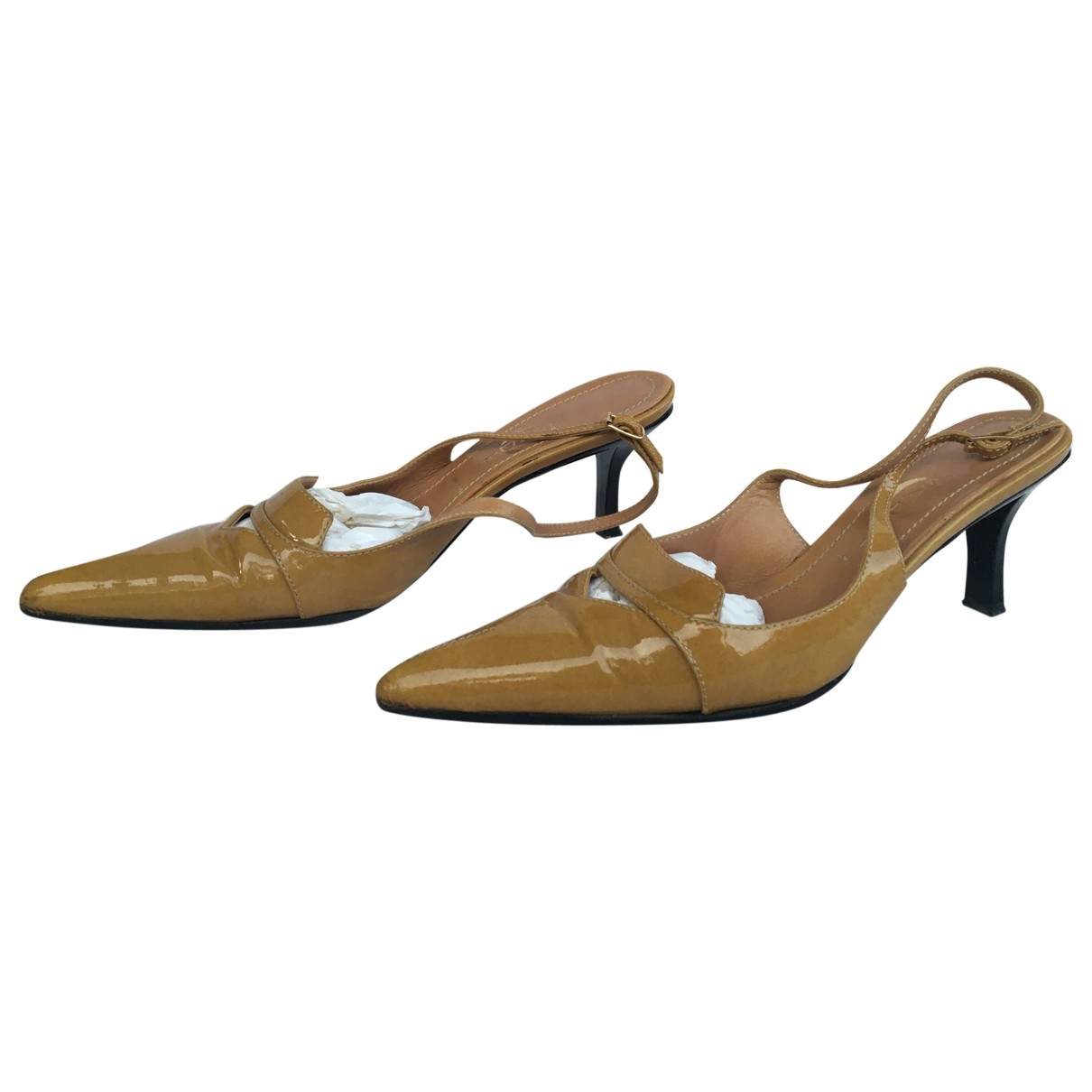 Casadei - Escarpins   pour femme en cuir verni - beige