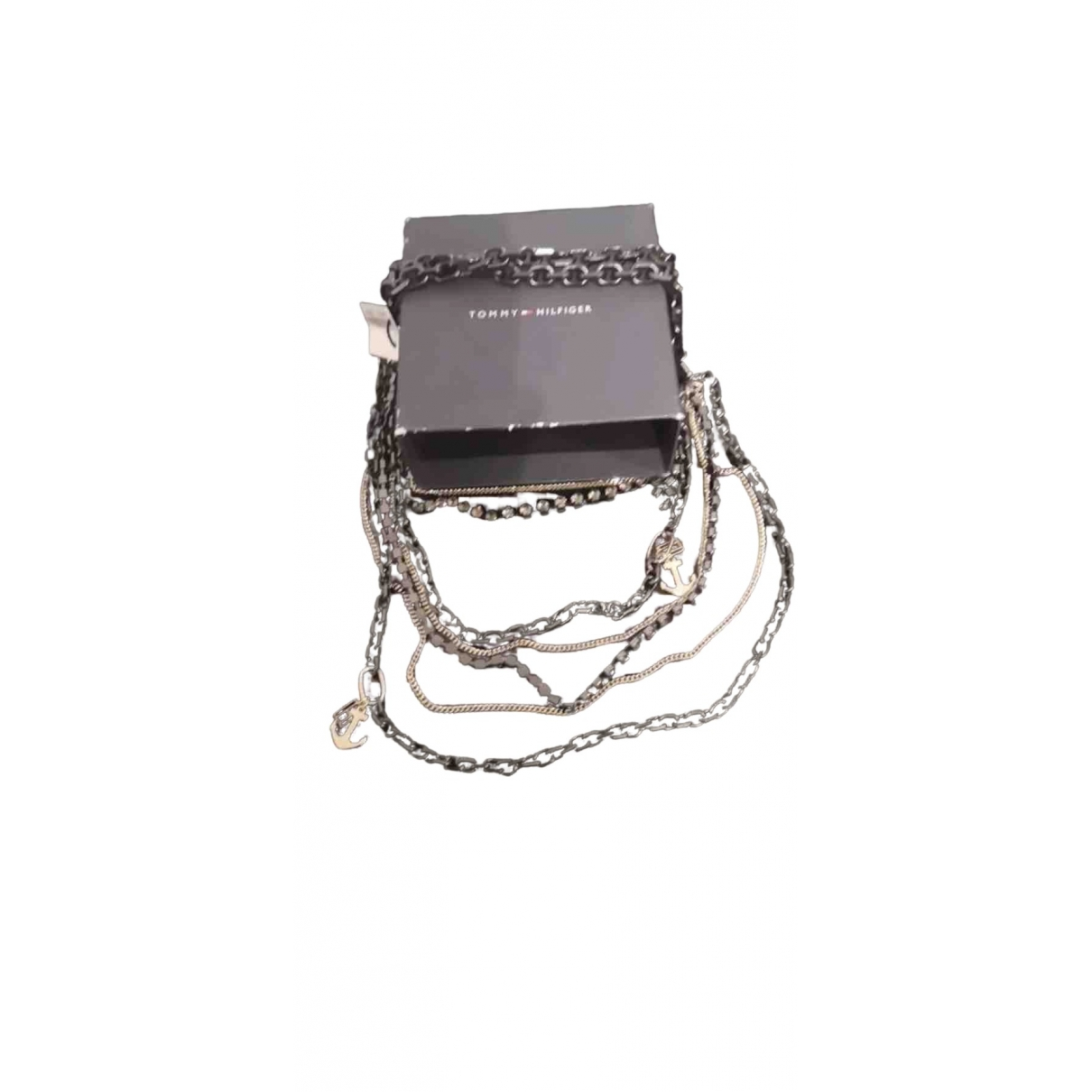 Tommy Hilfiger \N Anthracite Metal necklace for Women \N
