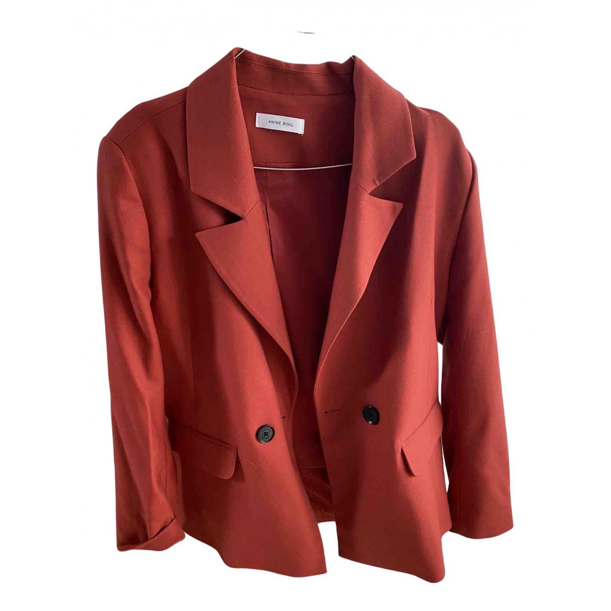 Anine Bing Spring Summer 2020 Jacke in  Rot Polyester