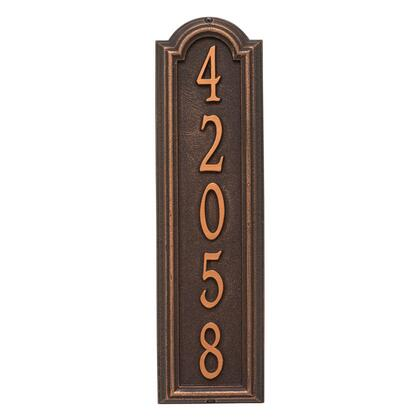 1286OB Personalized Manchester Vertical Wall Plaque in Oil Rubbed Bronze